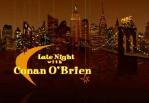 Late Night with Conan O'Brien title
