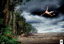 "WWF Environmental Awareness: ""TARZAN"" Print Ad by Uncle, Grey"