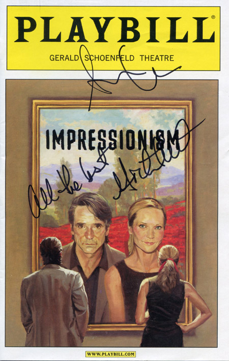 Impressionism Playbill signed by Michael T. Weiss