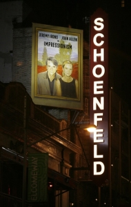 Schoenfeld Theatre and Impressionism Poster