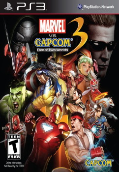 Marel vs. Capcom 3 PS3 Cover art